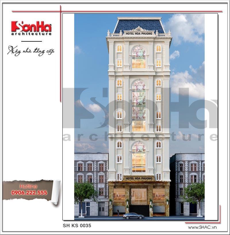 Thiết kế khách sạn cổ điển 12 tầng