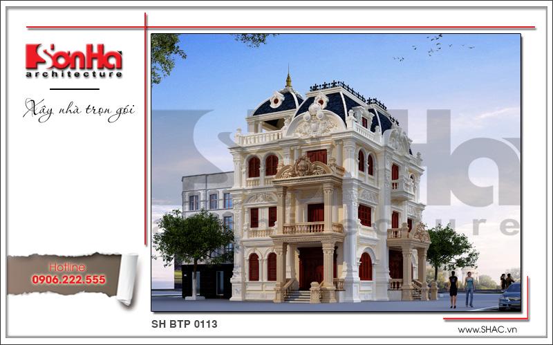 thiết kế biệt thự phố đẹp kiểu cổ điển