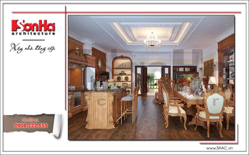 các kiểu phòng ăn bằng gỗ đẹp sang trọng nhất
