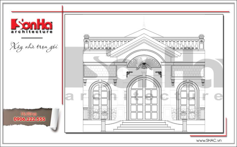 bản vẽ biệt  thự 1 tầng kiểu pháp đẹp tại hà nội
