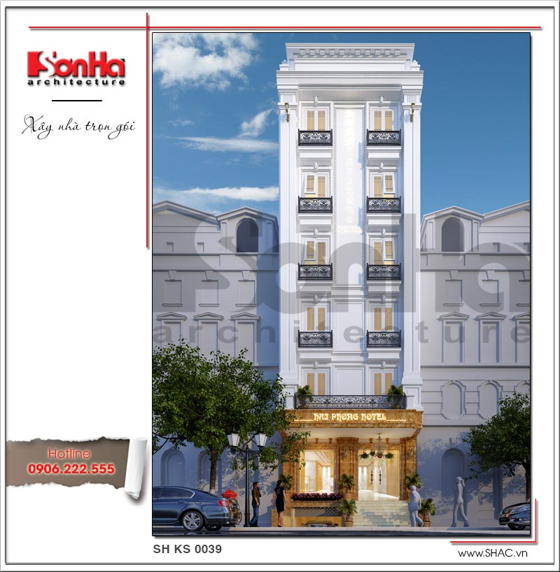 Thiết kế khách sạn mini 2 sao