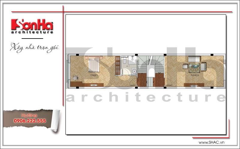 thiết kế bản vẽ tầng 2 nhà ống tân cổ điển tại móng cái quảng ninh