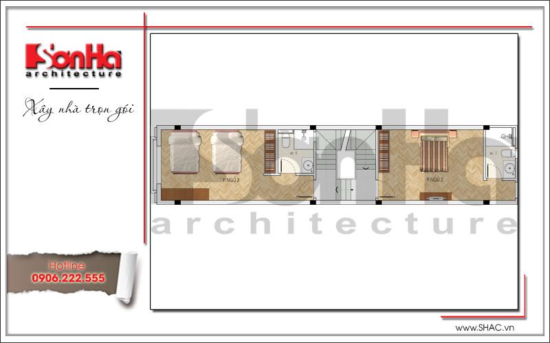 bản vẽ nhà ống kiến trúc pháp đẹp tại quảng ninh
