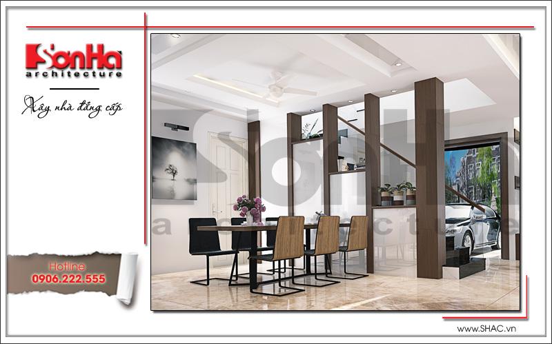 thiết kế nội thất phòng bếp hiện đại sang trọng