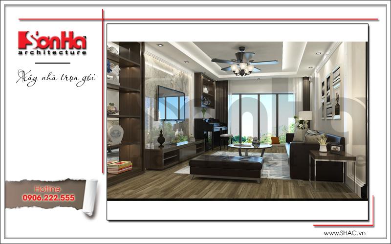 thiết kế nội thất phòng khách đơn giản kiểu hiện đại