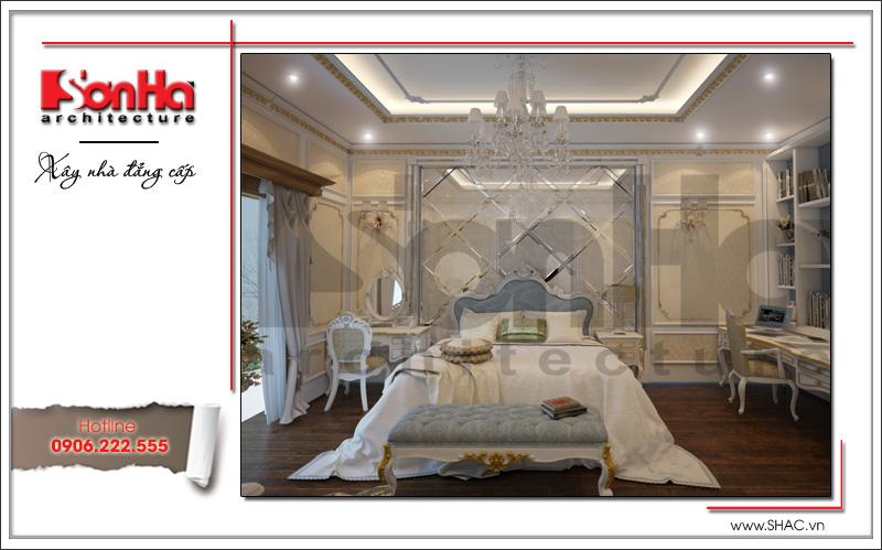 phòng ngủ cao cấp mang âm hưởng châu âu đẹp