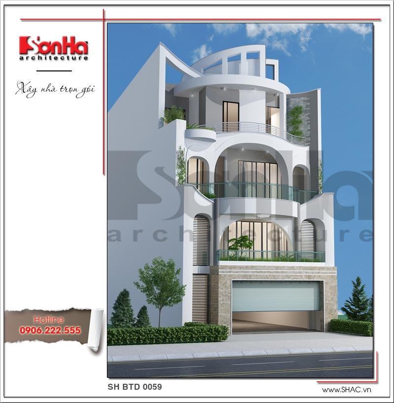 biệt thự hiện đại 4 tầng