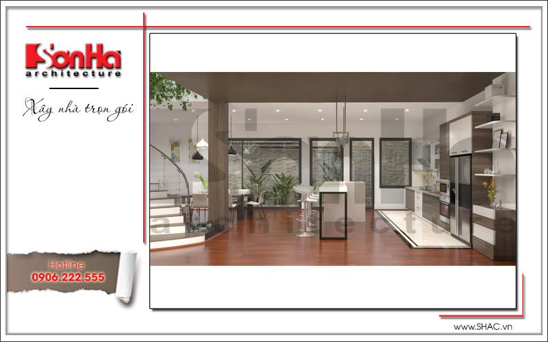 thiết kế nội thất phòng ăn và bếp đẹp