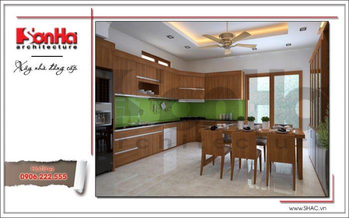 thiết kế phòng ăn bằng gỗ hiện đại đẹp nhất
