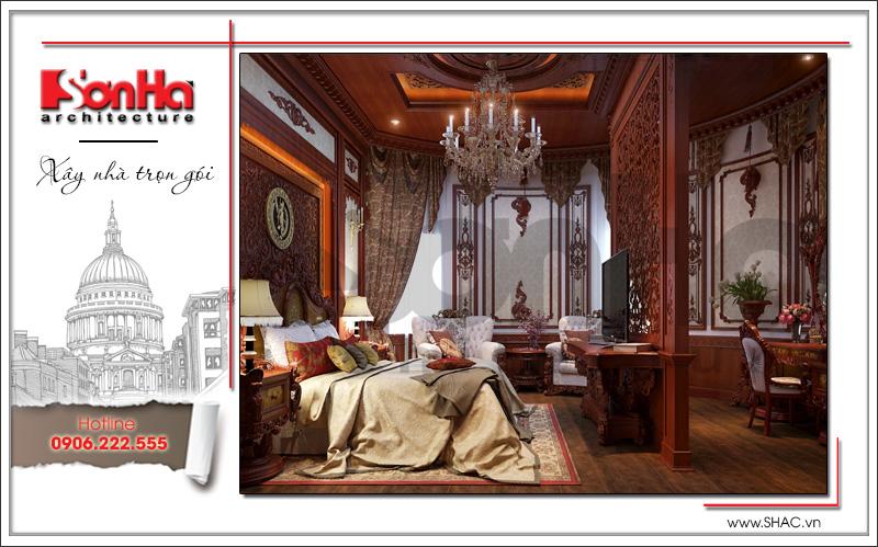 mấu phòng ngủ biệt thự cổ điển đẹp sang trọng