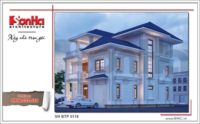 kiến trúc biệt thự tân cổ điển 3 tầng đẹp nhất