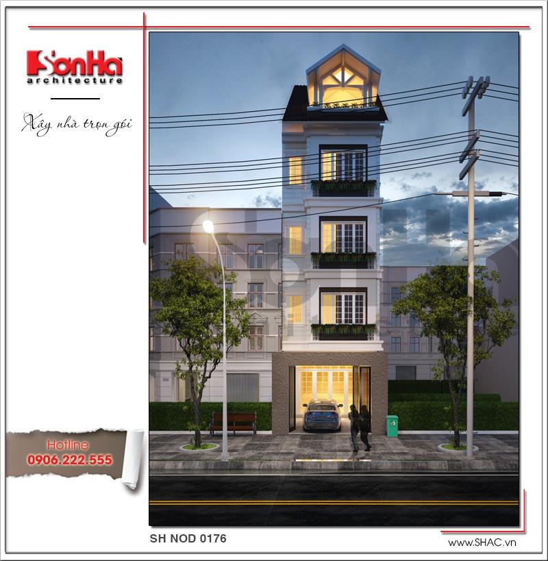 mẫu thiết kế kiến trúc nhà phố hiện đại tại tphcm