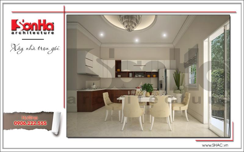 thiết kế phòng ăn và bếp phong cách cổ điển