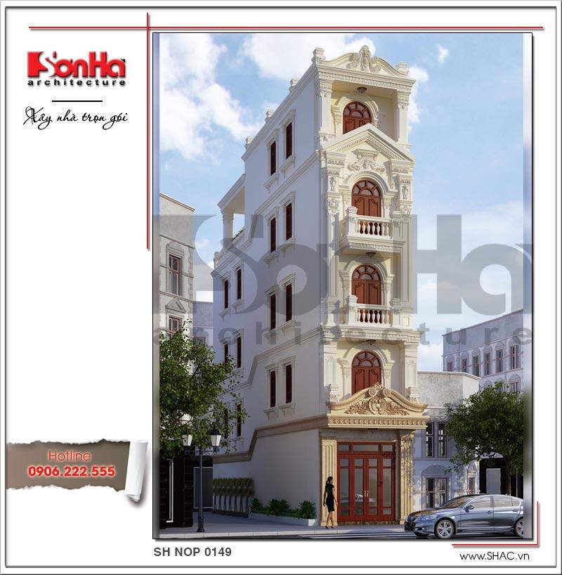 kiến trúc nhà phố kiểu pháp 5 tầng diện tích 60m2 đẹp nhất