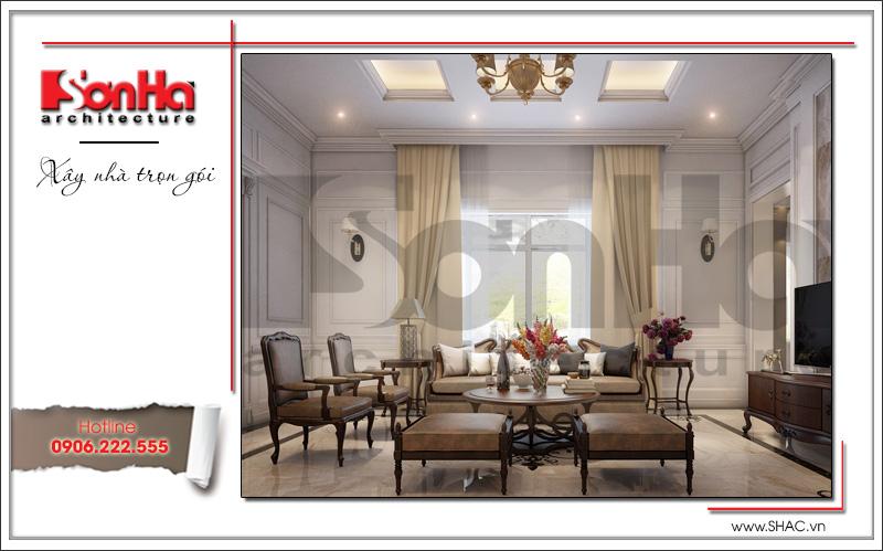 thiết kế phòng khách tân cổ điển đẹp của sơn hà