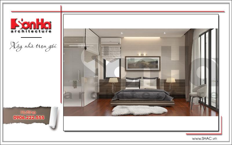 thiết kế nội thất phòng ngủ hiện đại trẻ trung 2018