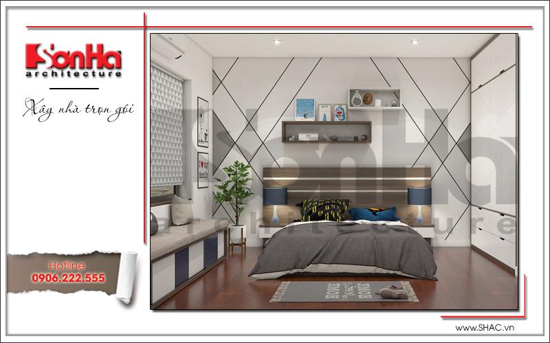 thiết kế phòng ngủ phong cách hiện đại năm 2018