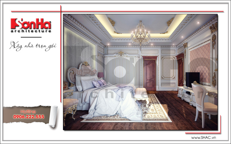 mẫu phòng ngủ cao cấp dành cho biệt thự năm 2018