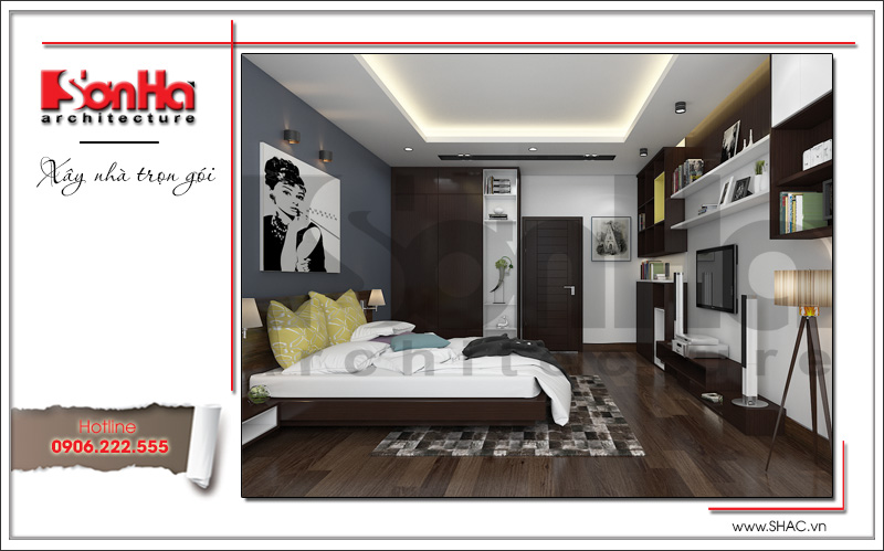 thiết kế phòng ngủ đẹp và ấn tượng cho con gái