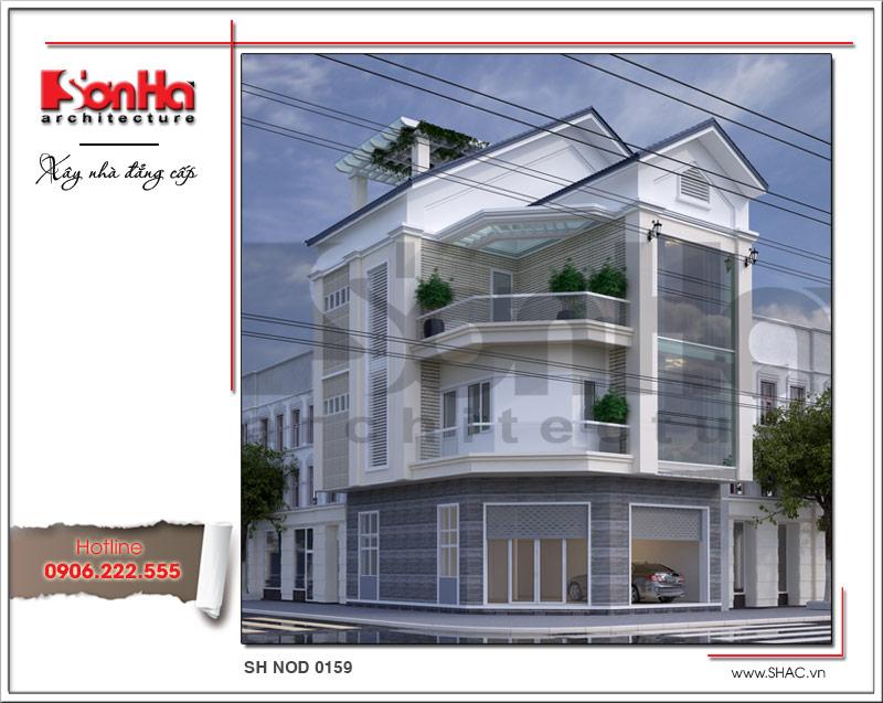 mẫu kiến trúc nhà phố hiện đại 3 tầng đẹp