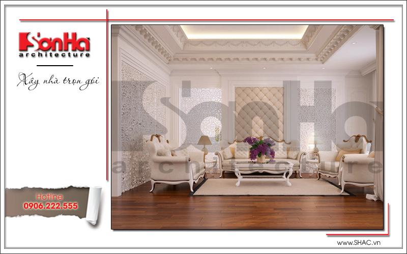 thiết kế nội thất phòng khách kiểu cổ điển cho căn hộ chung cư