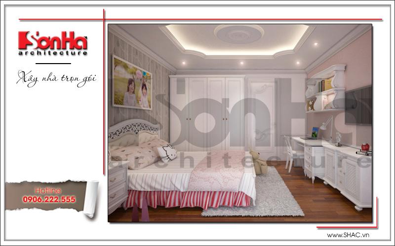 thiết kế phòng ngủ cho con gái căn hộ chung cư đẹp