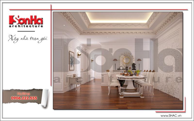 thiết kế phòng ăn kiểu cổ điển cho căn hộ chung cư