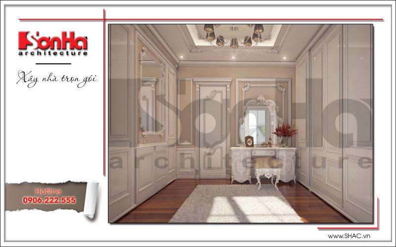 bàn trang điểm và phòng thay đồ căn hộ chung cư cao cấp